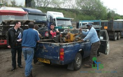 Customer from Zimbabwe collecting his parts from our site.