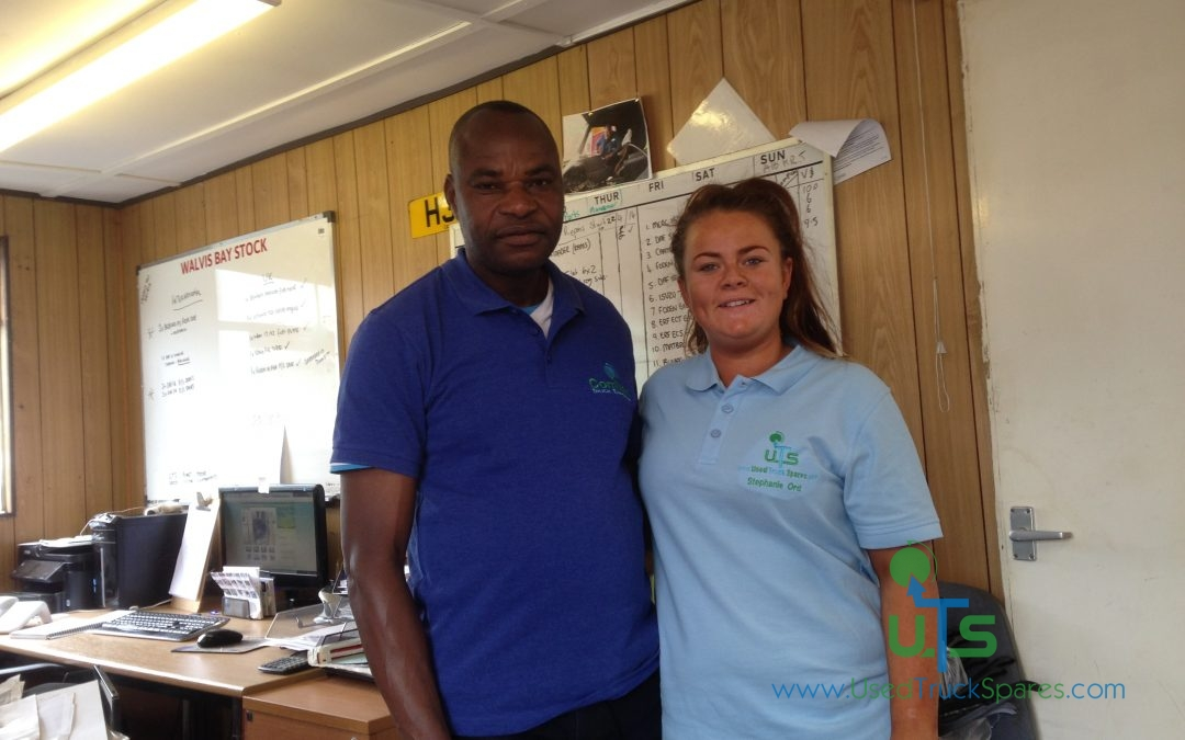 Our UTS Manager Stephanie with Anicet from Congo