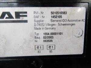 DAF LF55 CLOCK CLUSTER